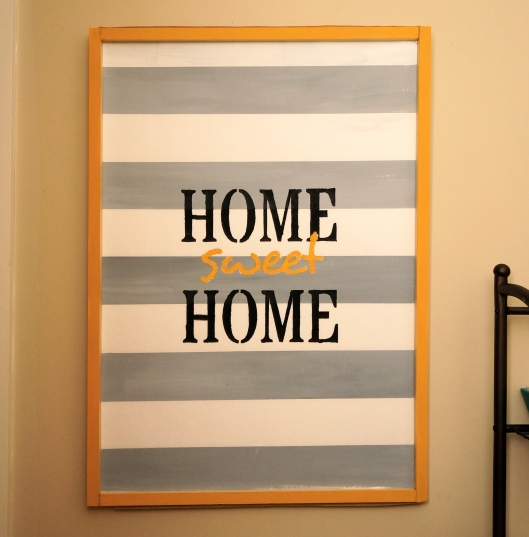 Another DIY: Entryway Welcome Art